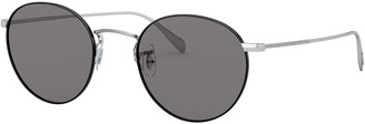Oliver Peoples Coleridge Round Metal Aviator Sunglasses