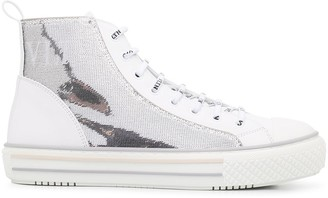 Valentino sequinned GIGGIES VLTN high-top sneakers