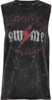 River Island Boys grey acid wash 'Awesome' band print vest