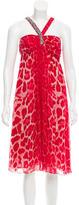Blumarine Silk Embellished Dress