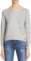Splendid Corrine Metallic Polka Dot Sweatshirt