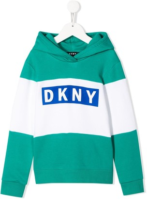 DKNY Colour-Block Relaxed-Fit Hoodie