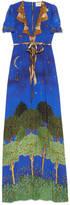 Gucci Night garden print silk gown