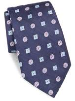 Saks Fifth Avenue Floral Embroidered Silk Tie