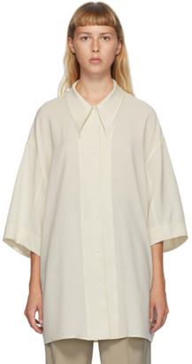Lemaire Beige Wool Maxi Shirt
