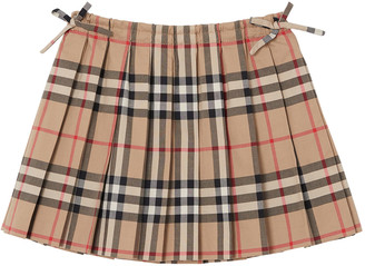 Burberry Mini Pearly Archive Check Pleated Skirt, Size 6M-2