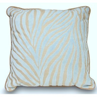 Ebern Designs Mozambique Accent Throw Pillow Color: Blue / Tan
