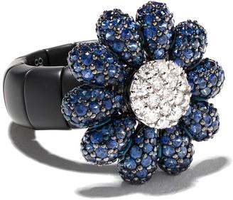 Roberto Demeglio 18kt Gold Diamond Flower Ring