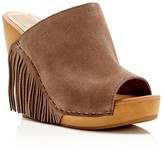 Dolce Vita Cai Suede Fringe Wedge Slide Sandals
