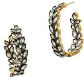 Freida Rothman Women's Fleur Bloom Hoop Earrings