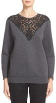 Stella McCartney Women's Lace Inset Sweatshirt