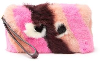 Anya Hindmarch Genuine Shearling Furry Eyes Clutch