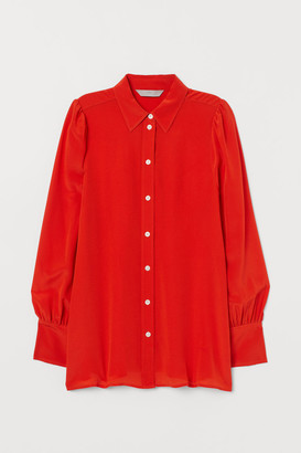 H&M Silk Shirt - Orange