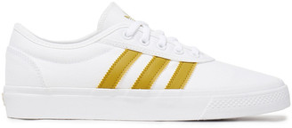 adidas Adi Ease Faux Leather-trimmed Canvas Sneakers