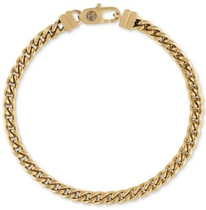 Esquire Men's Jewelry Esquire Men's Chain Bracelet in Gold-Tone Ion-Plated Stainless Steel