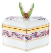Herend Butterfly Heart Box