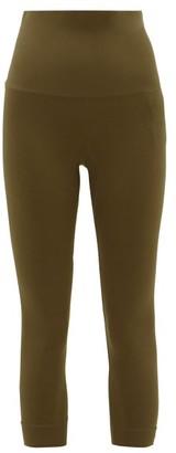 Falke High-rise Cropped Performance Leggings - Womens - Dark Green