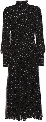Zimmermann Swiss-dot Crepon And Georgette Midi Dress