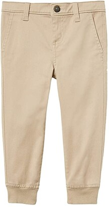 Janie and Jack Stretch Joggers (Toddler/Little Kids/Big Kids) (Khaki) Boy's Casual Pants
