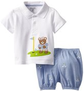 Mud Pie Baby-Boys Newborn Golf Polo And Diaper Cover Set