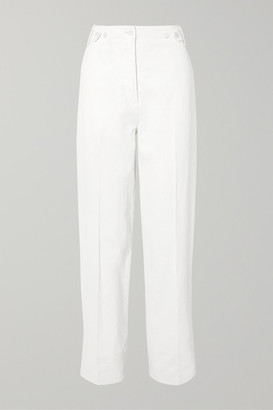 The Row Matea Pleated Linen-blend Wide-leg Pants - White