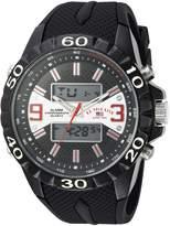 U.S. Polo Assn. Men's Quartz Metal and Rubber Casual Watch, Color: (Model: US9599)