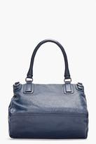 Givenchy Navy Leather Medium Sugar Pandora Shoulder Bag