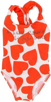 Bobo Choses Heart-Print Scoop Neck Swimsuit