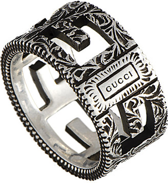 Gucci G Cube Silver G Motif Ring