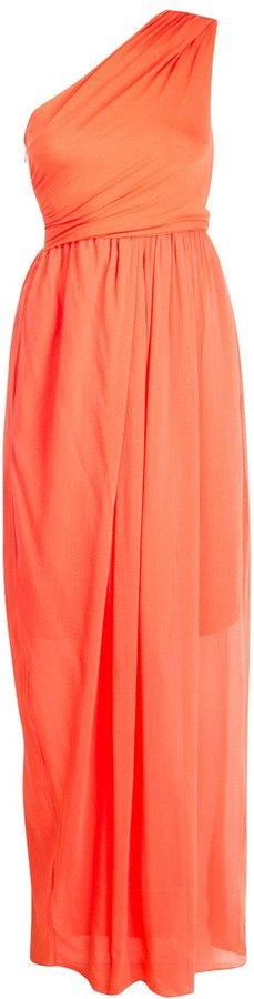 Carven Poppy One Shoulder Gown