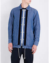 Sacai Drawstring-hem Cotton And Linen-blend Shirt