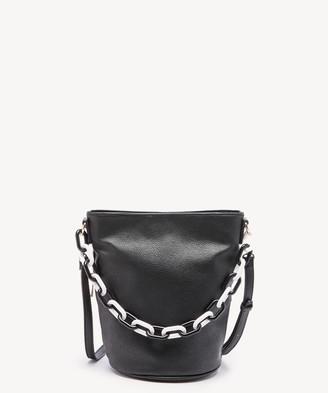 Sole Society Women's Fayre Bucket Crossbody Vegan Bag Leather Crossbody Black Vegan Leather From