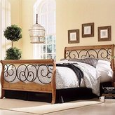 Dunhill Fashion Bed Group Fashion Bed Sleigh Bed in Honey Oak with Autumn Brown Finish - King