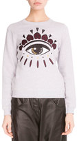 Kenzo Light Brushed Cotton Eye Sweatshirt, Light Gray