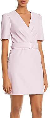 Lucy Paris Belted Faux Leather Sheath Dress - 100% Exclusive