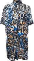 Barbara Bui printed drawstring shirt dress - women - Silk - 1
