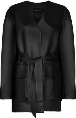 Low Classic Tie-Waist Belted Coat