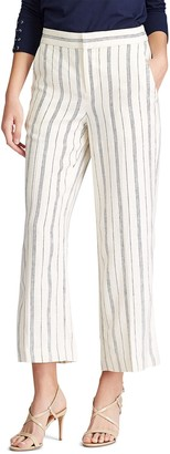 Chaps Women's Striped Wide-Leg Pants