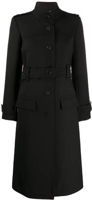 Chloé high collar single breasted coat