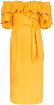 Mara Hoffman Arabella off-the-shoulder ruffled dress