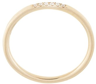 Natalie Marie 14kt yellow gold Six Stone Diamond Queenie ring