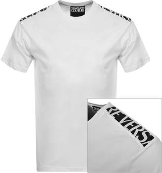 Versace Tape Logo T Shirt White