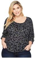 MICHAEL Michael Kors Plus Size Star Scoop Neck Peasant Top Women's Clothing