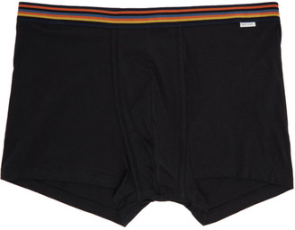 Paul Smith Black Artist Stripe Boxer Briefs