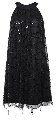 Dorothy Perkins Womens Showcase Black 'Tess'A Sequin Trapeze Dress, Black