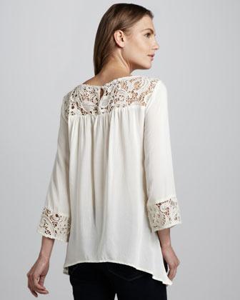 Ella Moss Josephina Crochet-Detail Top