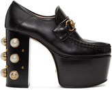 Gucci Black Vegas Platform Loafer Heels