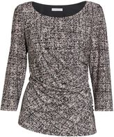 Gina Bacconi Black/cream autumn jersey top