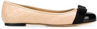 Salvatore Ferragamo Varina Q* Leather Ballets