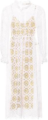 Diane von Furstenberg Leandra eyelet cotton dress